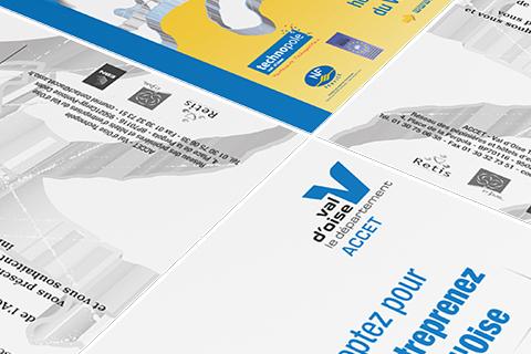 Création d'une carte de voeux pour l'ACCET, Association pour la Promotion de Centres de Création d'Entreprises Tertiaires. Eric Martin ©2014