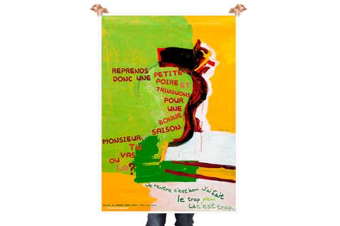 Conception d'affiches et de cartes postales pour le festival Paroles et Musiques dans le cadre de l'atelier Paroles et Musiques en Liberté.