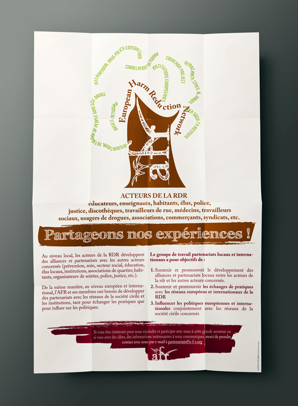 Conception graphique d'une affiche pour l'Association Française de Réduction des risques. Eric Martin ©2014