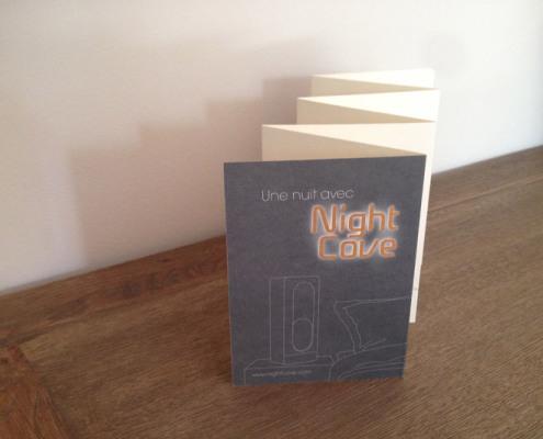 Conception graphique et illustration d'un dépliant pour NightCove de la SAS Zyken. Eric Martin ©2014