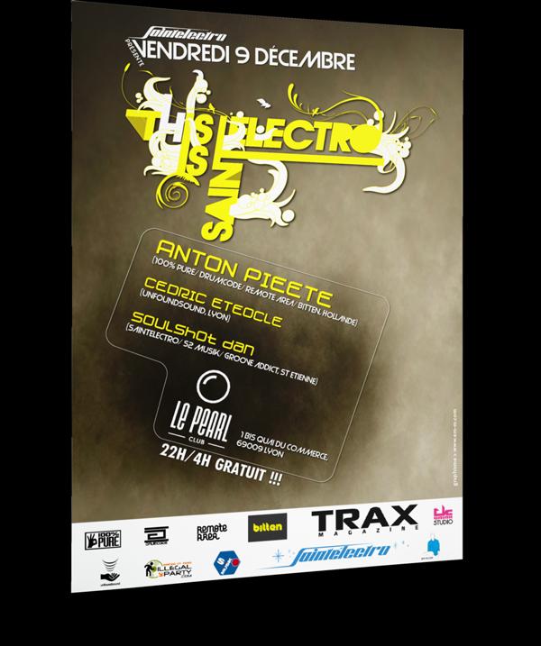 Création d'un flyer pour l'association Saintelectro à Saint-Etienne. Eric Martin ©2014