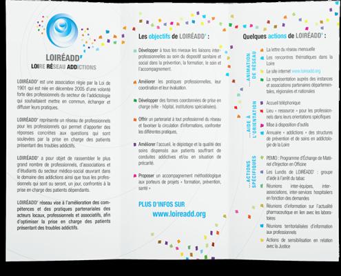 Mise à jour et refonte d'un dépliant 3 volets pour l'association Loireadd' à Saint-Etienne. Eric Martin ©2014