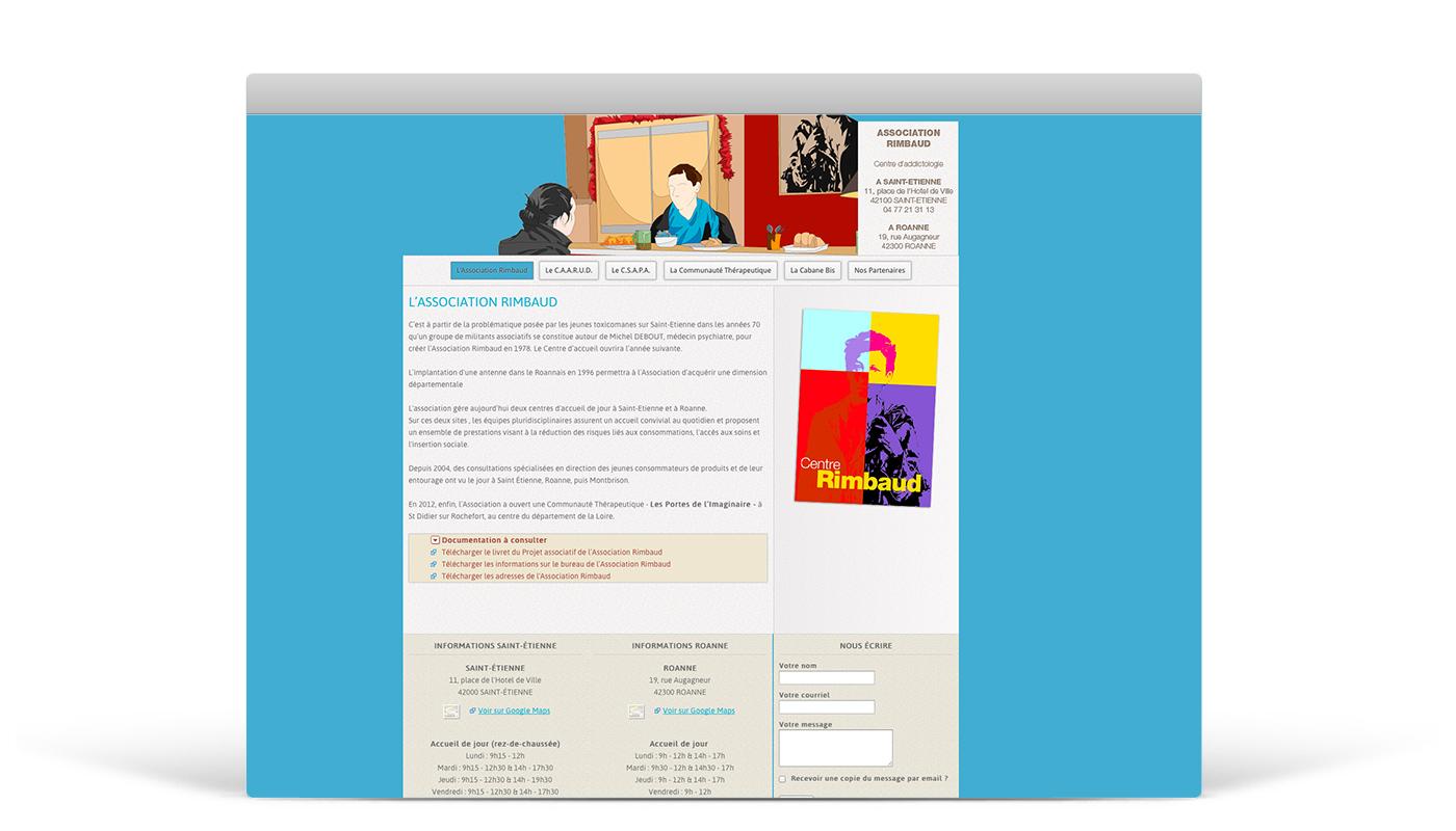 Refonte du site internet du Centre Rimbaud à Saint-Etienne. Eric Martin ©2014