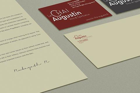 Création d'un logo, de cartes de visites et d'un site e-commerce pour la société Le Chai Augustin. Eric Martin ©2014