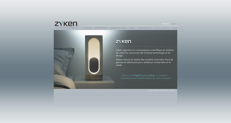 Refonte du site internet de la société Zyken. Eric Martin ©2014
