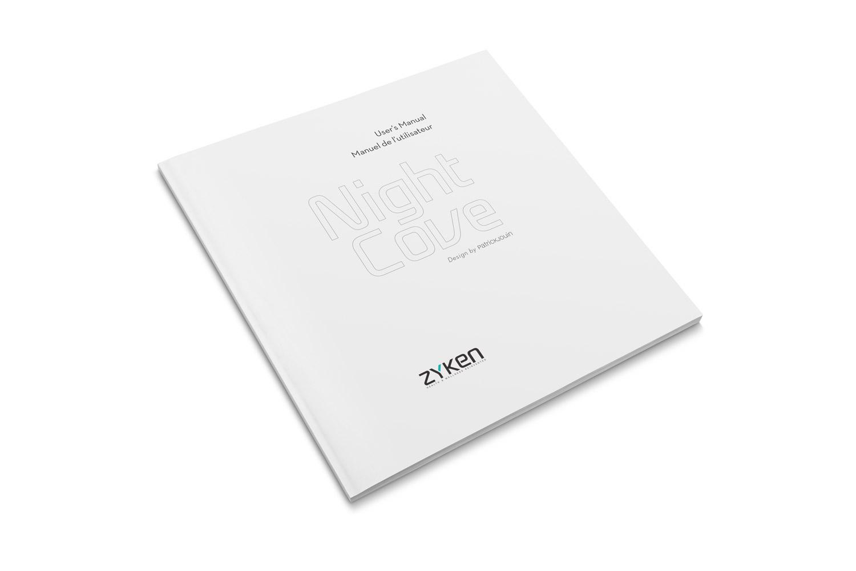 Couverture du manuel utilisateur du NightCove pour la société Zyken. Eric Martin ©2014