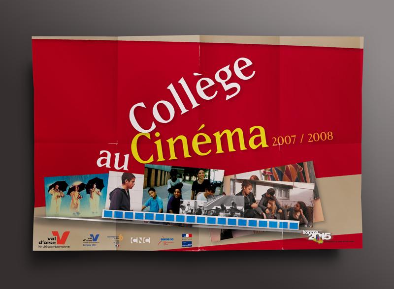 Création d'une affiche format 40x60cm dépliée, format A5 pliée, pour le Conseil général du Val d'Oise. Eric Martin ©2014