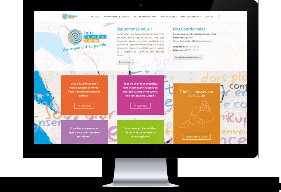 Site internet de l'association Loire Prévention Suicide située à Saint-Etienne. Eric Martin ©2014